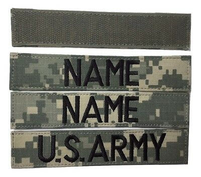 3 piece ACU Name & US ARMY Tape set, with Fastener - Military