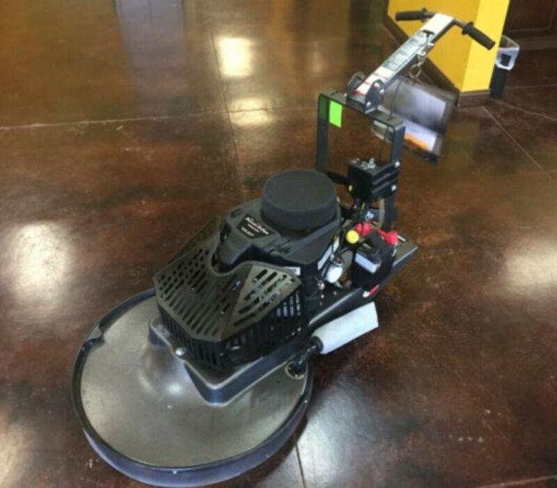 "Pioneer Eclipse 420BU 28"" Propane Floor Buffer with dust skirt."
