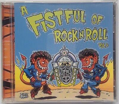 (Fistful Rock Roll Vol 4  V/A CD 2000 Tee Pee Garage Punk Quadrajets Spitfires)