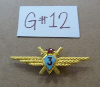 Vtg USSR Soviet Military Air Force Wings Badge Pin- 3rd class -G#12