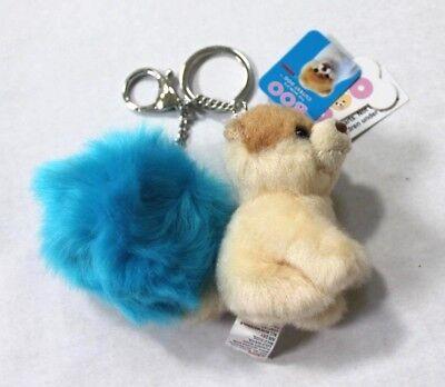 Boo Plush Pom Pom Keychain Blue Worlds Cutest Dog (Pom Pom Dogs)