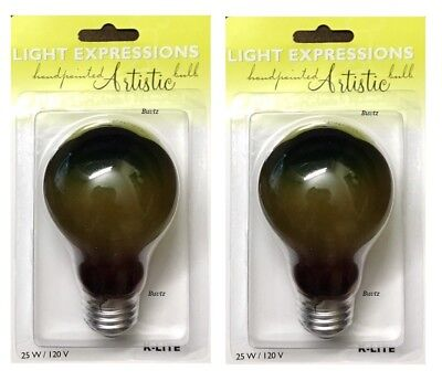 Halloween Light Bulb (2x Rainbow Color LIGHT BULBS 120V 25W Glow Halloween Party Special Occasion)