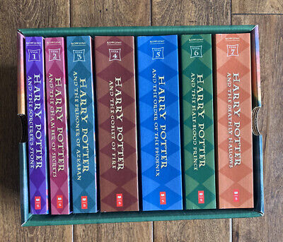 Harry Potter Complete Box Set Books Volumes 1-7 by J. K. Rowling Paperback VG