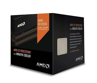 AMD FX-8350 CPU AM3+ 4.0GHz 8-Core Black Edition With Wraith Cooler