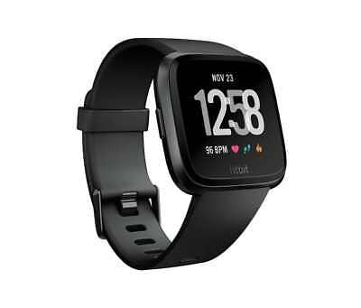Fitbit Versa Smartwatch Black  Small   Large Bands Included  New   Sealed