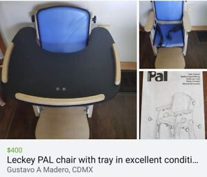 Leckey PAL chair with tray