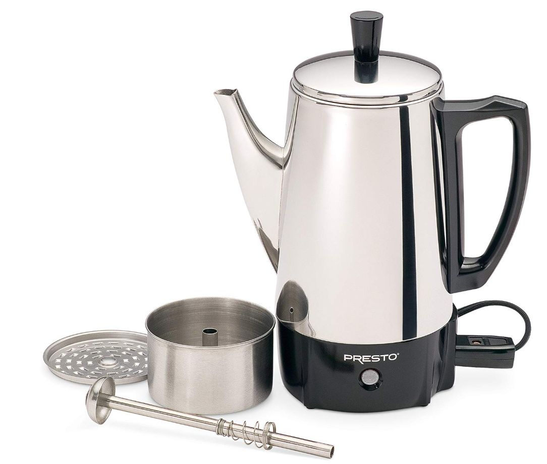 Electric Coffee Percolator Vintage Maker Pot Stainless Steel