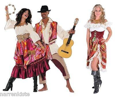 Zigeunerin Zigeuner Pirat Kleid Kostüm Piratin Zigeunerkostüm Piratenkostüm lang