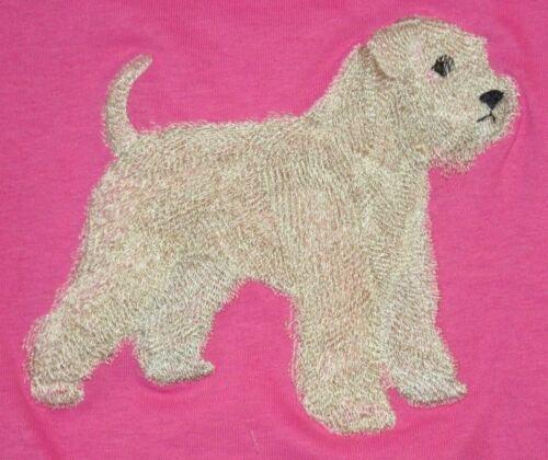 Embroidered Ladies Short-Sleeved T-Shirt - Wheaten Terrier C9628