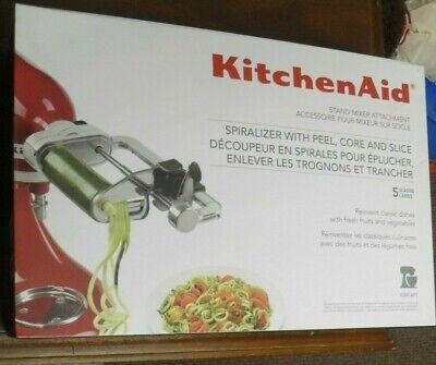 KitchenAid Stand Mixer Attachment 5 Blade Spiralizer w/ Peel, Core and Slice