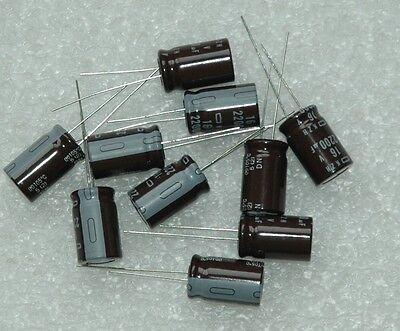 10 Pcs Nippon 16v 2200uf 2200mfd Radial Electrolytic Capacitor 12.5mmx20mm 105c