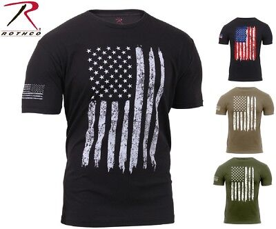 Patriotic Tee Shirts (Mens US Flag Athletic T-Shirt Muscle Build Tactical Tee American Patriotic)