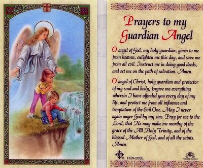 Prayer Card to My Guardian Angel Quality Catholic Laminated Holy Cards HC9-205E