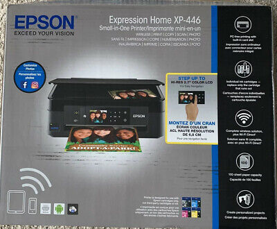 Epson Expression XP-446 Small-In-One Color Inkjet Printer, Copy, Scan & -