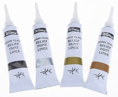 WamiQ HOBBY GLASS OUTLINER CERAMIC GLASS PAINT OUTLINER RELIEF PAINT LINER-WamiQ