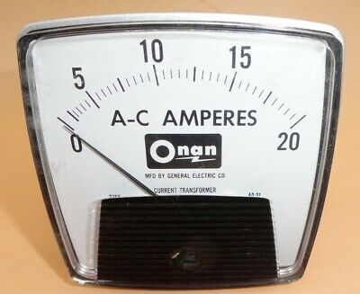 Ge Ac 20a Analog Ammeter Panel Mount Pointer Amp Current Meter Gauge