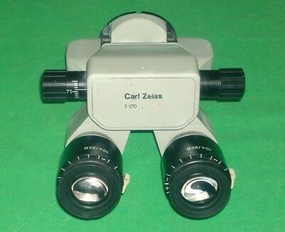 Carl Zeiss Opmi Microscope 180 Binoculars F170 T W 10x22b Eyepieces 2756