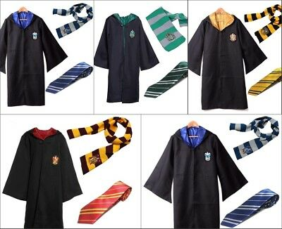 Harry Potter Robe+Schal+Krawatte Uniform Komplett Karneval kostüm Cosplay Suit ()