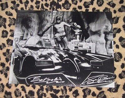 Rare GEORGE BARRIS signed 11x14 photo autograph BATMOBILE Adam West Batman cave