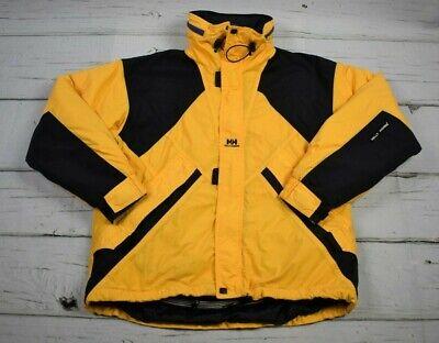 Helly Hansen Helly Tech Waterproof Hood Jacket Mens Small Runs Big Yellow Black