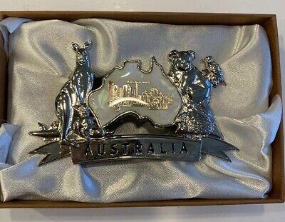 Australia. Vintage Business Card Holder Australia States Koala 3 12 Long New