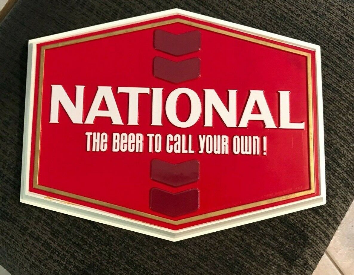 VINTAGE NATIONAL BEER SIGN NATIAONL BREWING CO BALTIMORE MD  MARYLAND