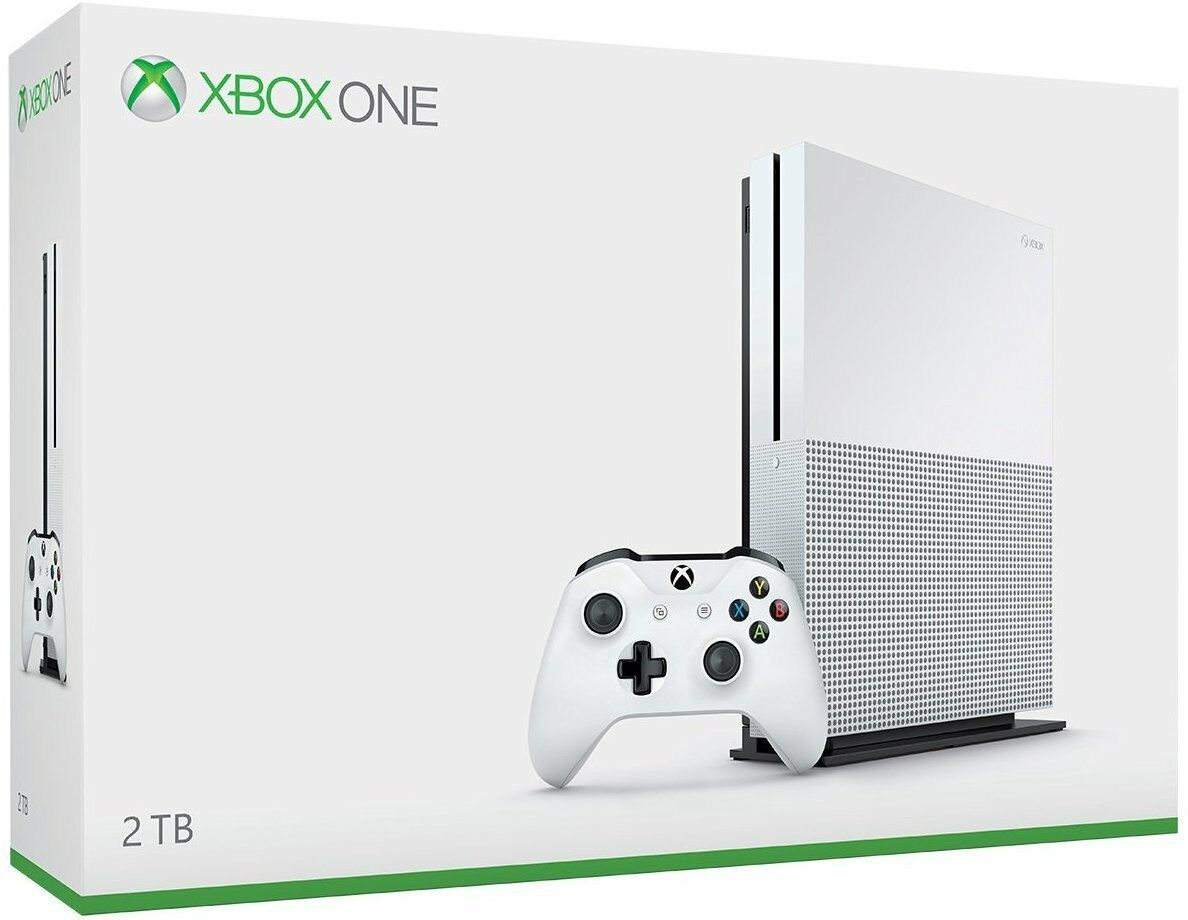 Microsoft Xbox One S 2TB Launch Edition White Console, Brand New