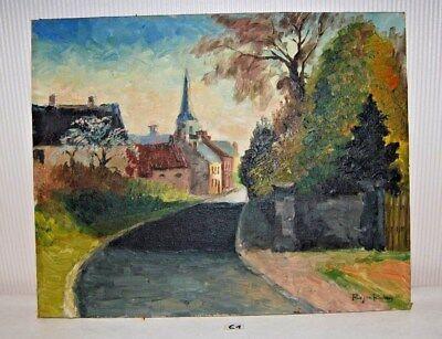 E1 Peinture à l'huile - Roger Rouvroy - 1951