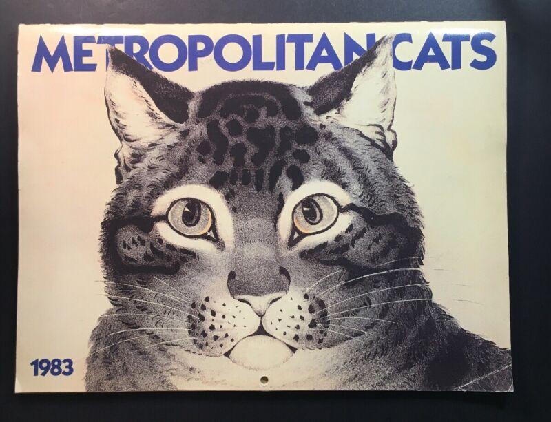 "1983 Metropolitan Museum Of Art Cat Calendar ""Metropolitan Cats"" Rare"