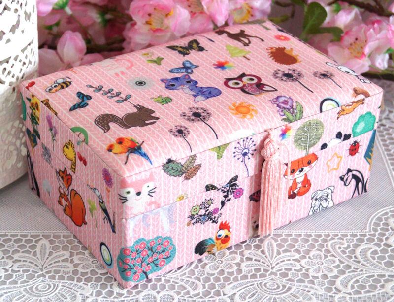 Schmuckkasten Schmuckkästchen Schmuckkoffer Schmuckschatulle rosa Mädchen Kinder Eule rosa