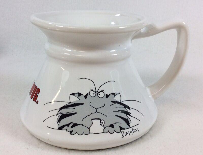 "Unused Sandra Boynton ""Keep Your Paws Off My Mug"" 10oz Non-Slip Coffee Cup"