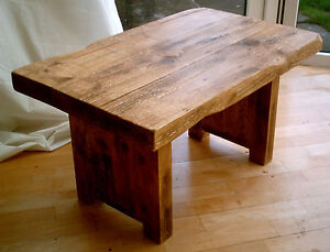 New-Hand-Made-Plank-Chunky-Rustic-Coffee-Table-Solid-Wood