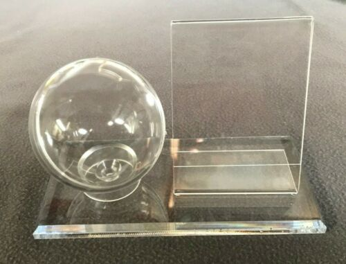 Clear Baseball Display And Baseball Card Holder Combo Display Azm Displays