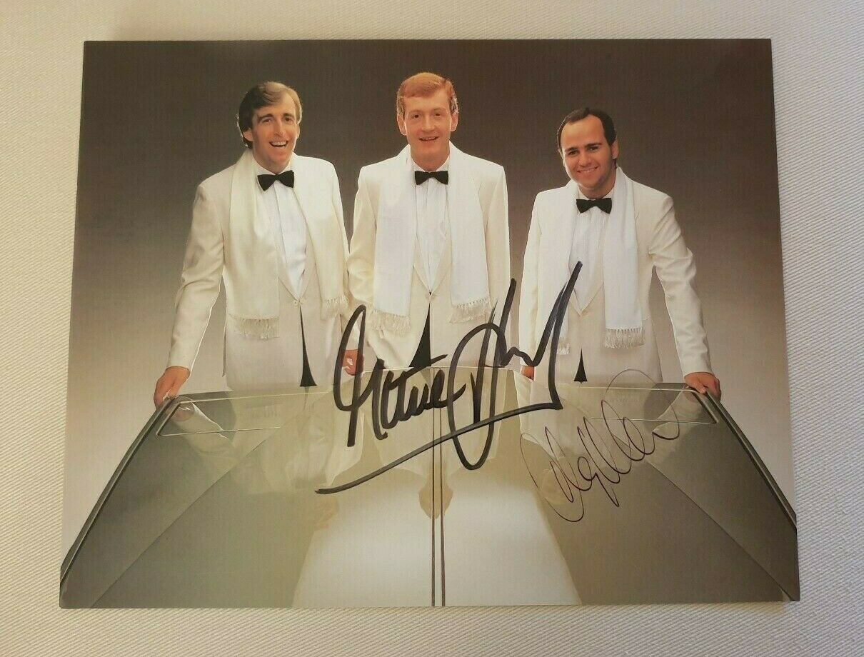 STEVE DAVIS and TONY MEO Signed Official Matchroom 10x8 Photo