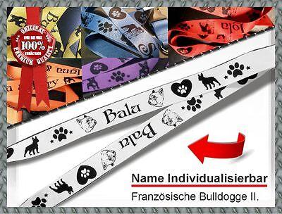 Individuell bedruckte Schlüsselband *Französische Bulldogge II* Hund mit Name!