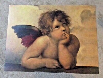 New Raphael Raffaello Angel Cherub Print