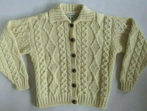 Vintage LL Bean Ivory Wool Women