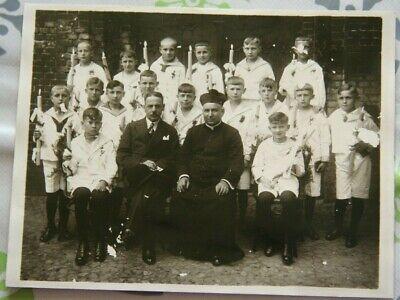 Foto 1932 jungen marine uniform Priester klasse kerzen lehrer Kommunion X14 ()