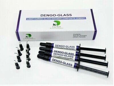 Dengo Glass Seal Light-curing Glass Ionomer Composite Cement 4x 2 G Dental