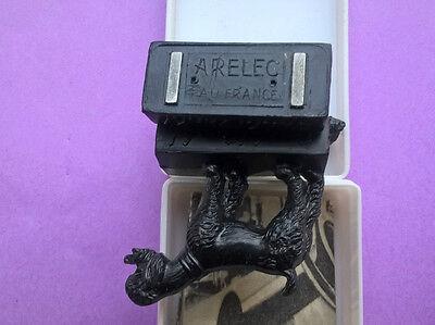 Arelec fixe-notes magnÉtique ouah! ouah! 2 caniches mascottes 1959 vintage tbe