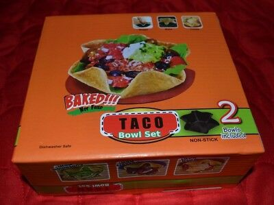 Set of 2 Taco Bowl Tortilla Shell Molds - Baked - Non-stick - NEW (Tortilla Shell Molds)