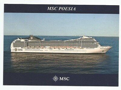 Ms Msc Poesia   Mediterranean Shipping Co  Italy Cruise Ship Luxury Liner