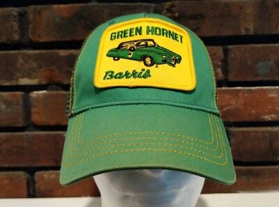 Green Hornet Barris Car Patch Trucker Cap Baseball Hat Snapback Be Ethic VTG (Green Hornet Hat)