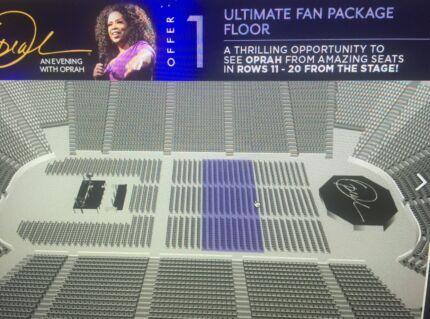 OPRAH TICKET - Adelaide, SA.  Amazing Seat plus Merchandise Voucher Coromandel Valley Morphett Vale Area Preview