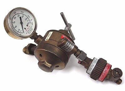 Airco 806 8462 Propanemapp Dual Stage Regulator W Concoa 8010789 Gauge
