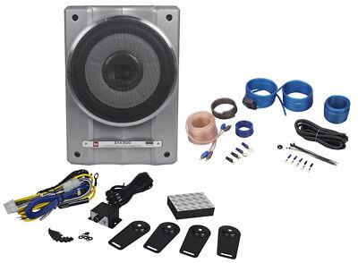 Dual Bak1500 10  1500W Active Powered Under Seat Car Subwoofer Sub   Wire Kit