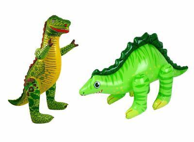 2 X Gonfiabile Dinosauri, Amici T-Rex & Stegosauro, Jurassic Park Sostegno