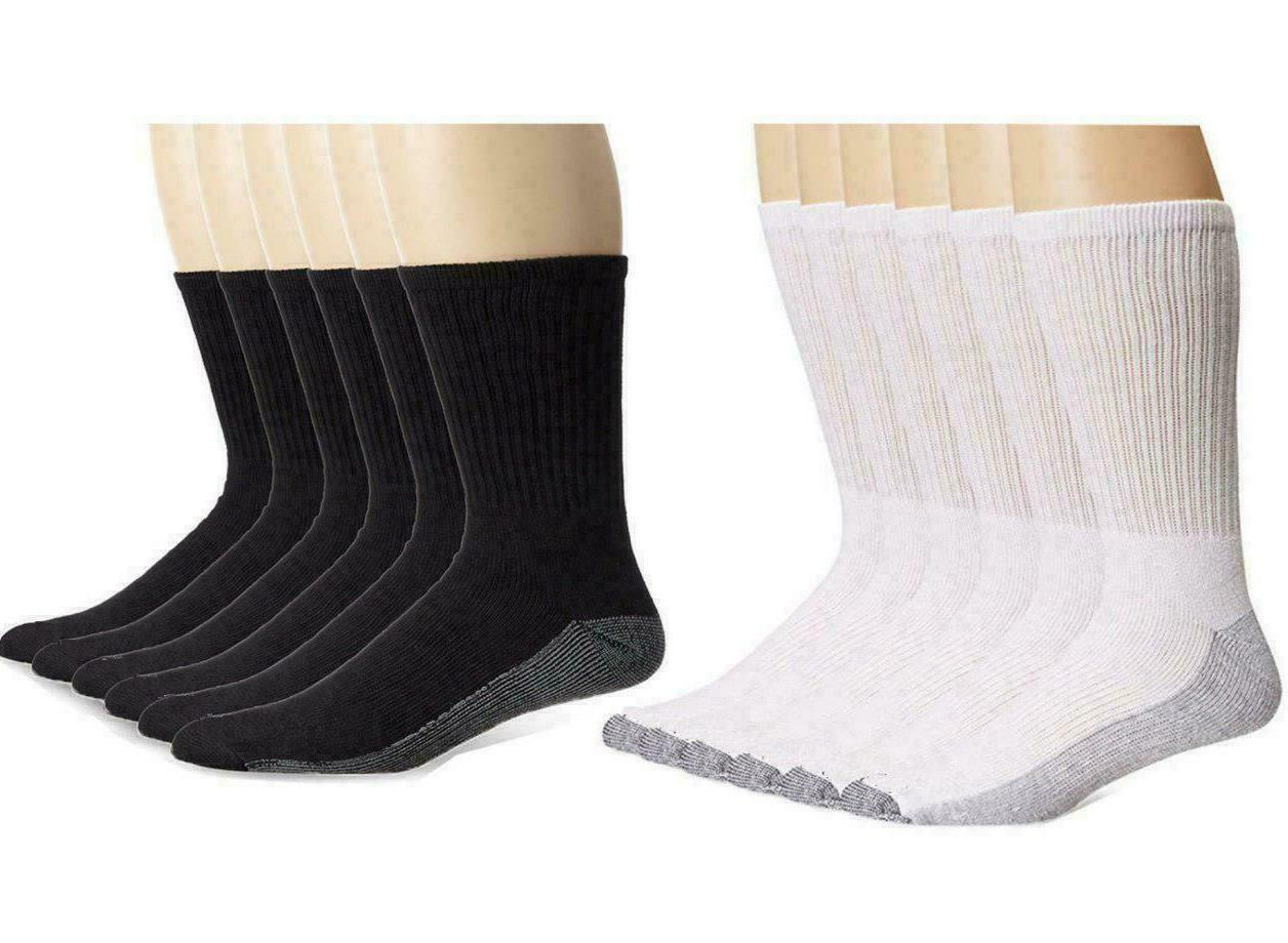 12 Pairs Mens Non Elastic Cotton Socks Comfort Grip Diabetic 6-11 Big Foot 10-13