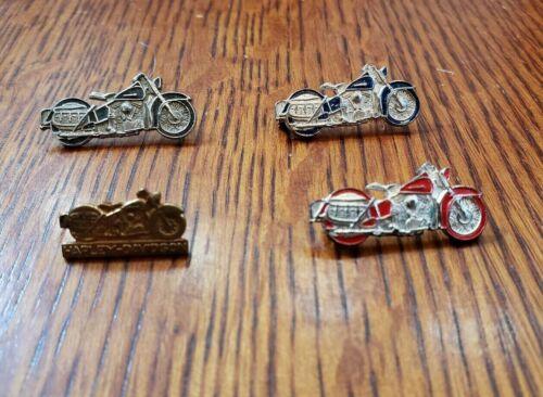 Lot Of 4 Vintage Harley Davidson AMA Knucklehead Panhead Shovelhead Pins