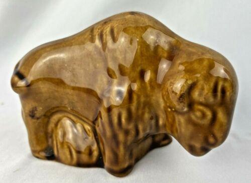 VTG Stoneware South Dakota Pottery Buffalo Figurine Sculpture